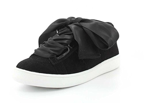 Jeffrey Campbell Kvinners Pabst Lav Top Sneaker Svart Semsket Combo