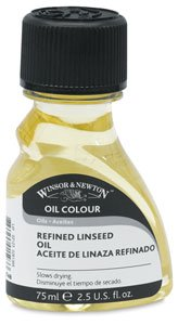 Winsor & Newton Refined Linseed Oil - 1 Liter Tin from WINSOR & NEWTON / COLART