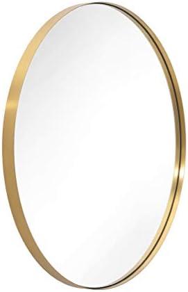 ANDY STAR Oval Gold Bathroom Mirror