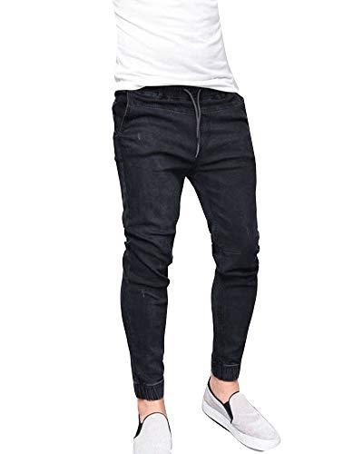 Slim Fit Trousers Homme En Stretch Jeans Pantalons Denim Skinny Noir PwTAYqw7