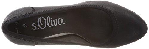Tacón black Para 1 S 21 oliver 22404 Zapatos Negro Mujer De wXRqA