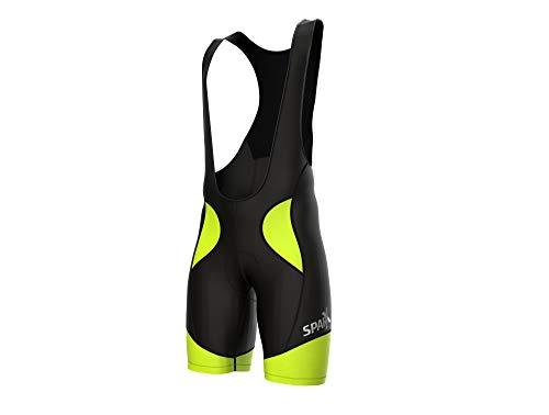 Sparx Men Cycling Bib Shorts Bicycle Bike Racing Bibs Short Padded (XL, Black/Neon ()