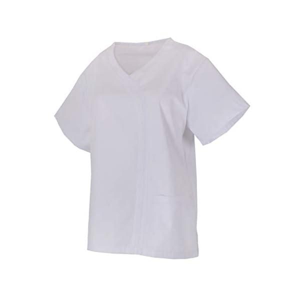 MISEMIYA Casaca Señora Mangas Cortas Uniforme Laboral Clinica Hospital Limpieza Veterinaria Sanidad Hostelería Camisa de utilidades de Trabajo para Mujer 2