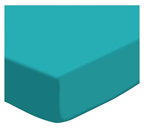 SheetWorld Fitted Pack N Play (Graco Square Playard) Sheet - Teal Jersey Knit - Made In USA