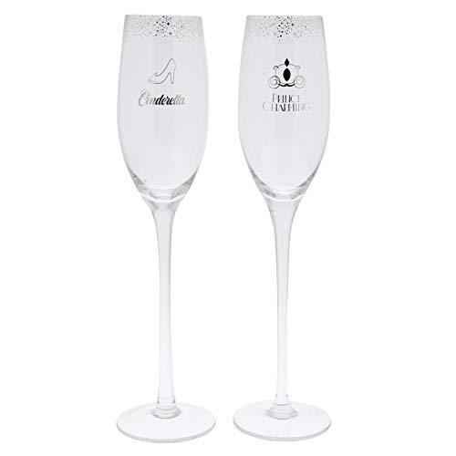 Disney Cinderella Wedding Collection - Cinderella Wedding Toasting Glasses