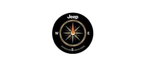 Genuine Jeep Accessories 82210884AB Cloth Spare Tire Cover with The Adventure Begins Here Logo (Spare Compass Jeep Cover Tire)