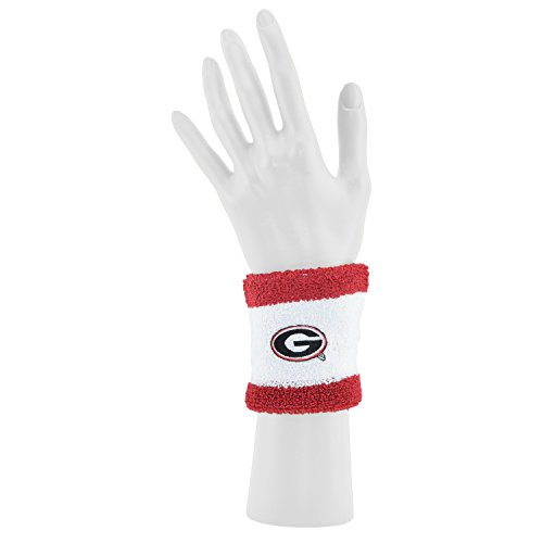 Bulldog Wristband - Mojo Koolwear Georgia Bulldogs Official Adult Striped NCAA 92% Cotton 8% Spandex Wristband
