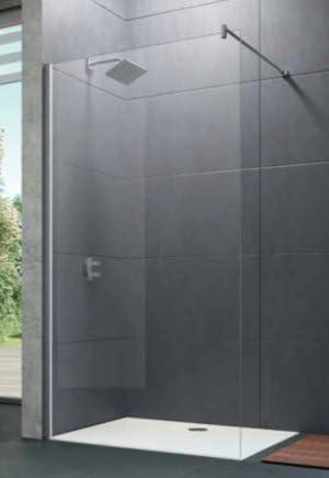 Mampara de ducha Design Pure lateral: Estabilizador de ángulo, reversible, cristal transparente, 6 – 8 mm, perfil plata: Amazon.es: Bricolaje y herramientas