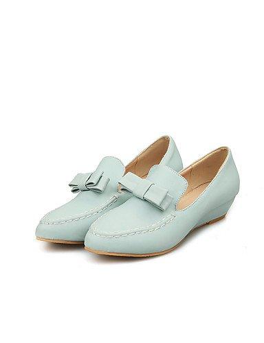 PDX/ Damenschuhe - Ballerinas - Büro / Kleid / Lässig - Kunstleder - Keilabsatz - Spitzschuh / Geschlossene Zehe - Blau / Rosa / Lila / Weiß blue-us6 / eu36 / uk4 / cn36