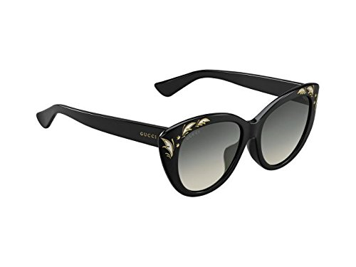 GUCCI GG3828/F/S Feather Black Mother Of Pearl Sunglasses ASIAN FIT 3828 - Oversized Gucci Cat Eye Sunglasses