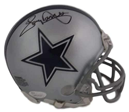 Tony Dorsett Autographed/Signed Dallas Cowboys Mini Helmet in Black JSA