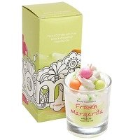 (Bomb Cosmetics Frozen Margarita Piped Glass Candle with Essential Oils)
