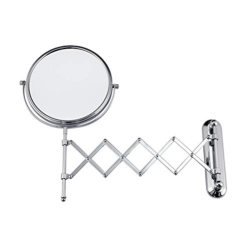 Hotel Folding Wall-mounted Double-sided Telescopic Magnifying Vanity Mirror Bathroom Beauty Mirror Princess Mirror 6 8 Inches (Size : 6 inches) by Wall-mounted Folding Mirror (Image #7)