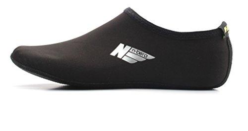 NBERA 2econdskin Barfuß Wasser Haut Schuhe Aqua Socken für Beach Swim Surf Yoga Übung 2017 Schwarzer Feststoff