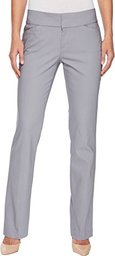 Liverpool Women's Graham Bootcut Trousers in Windy Grey Windy Grey 12 33 Back Zip Stretch Trousers