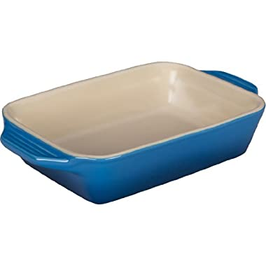 Le Creuset Stoneware Rectangular Dish, 10.5 by 7-Inch, Marseille