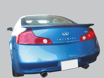 2dr Factory Style Spoiler - Accent Spoilers-Infiniti G35 2dr. Factory Style Spoiler-Black Obsidian Paint code: KH3