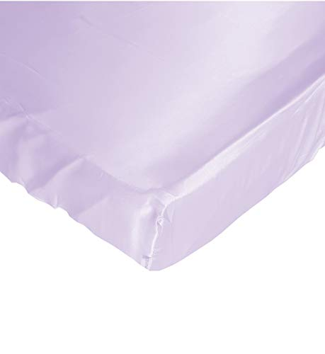 - Lavender Cloud Satin Fitted Crib Sheet - Fits Standard Crib Mattresses and Daybeds