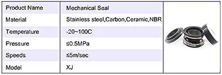 Size : XJ 28 NO LOGO HHW-Spring 1pc Tenuta Meccanica della Pompa Modello XJ Pompa Acqua Guarnizione Meccanica XJ-16//19//25//28 Ceramica Bellow Meccanica Anello Tenuta