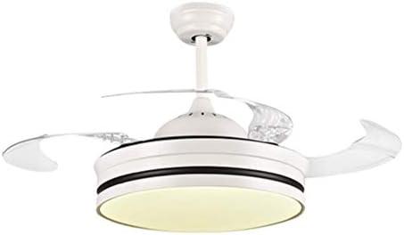 Ventiladores de techo LED con lámpara Interruptor silencioso de luces ocultas Ventilador Araña colgante de iluminación-Control remoto-42 pulgadas: Amazon.es: Iluminación