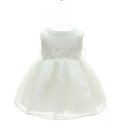 - Moon Kitty Baby Girls Beaded Embroideries Baptism Dresses 2 piece Christening Gown