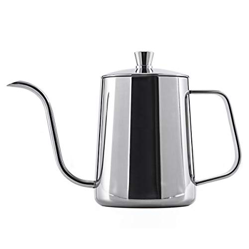(YONGYE Long Narrow Spout coffee kettle 21oz(600ml)Gooseneck Coffee Pot in Stainless Steel Perfect for Coffee Maker and Coffee Lover)