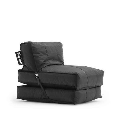 31q4SLsKhnL - Big Joe Flip Lounger bean bag game chair sleeper bed dorm gaming fold down NEW Black