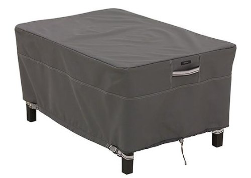 Ravenna Rectangular Ottoman And Side Table Cover, SMALL, DARK TAUPE (Home Decorators Outdoor Furniture)