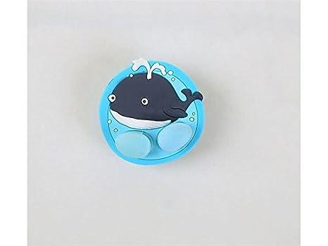 Sunnyshinee Ducharse Ballena de Dibujos Animados sostenedor del Cepillo de Dientes Ventosa lechón Ganchos Dientes Cepillo Accesorios de baño (Azul) para el ...