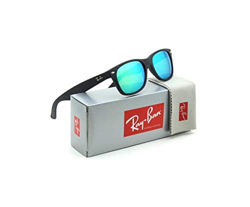 Ray-Ban RB2132 622/19 New Wayfarer Flash Series Unisex Sunglasses Green Mirror 55mm - New Green Flash