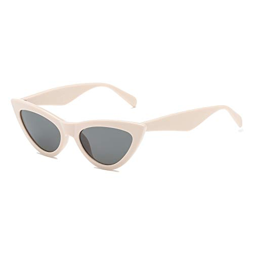 (ANAIS GVANI Women Retro Vintage Cat Eye Designer Sunglasses (Tan))