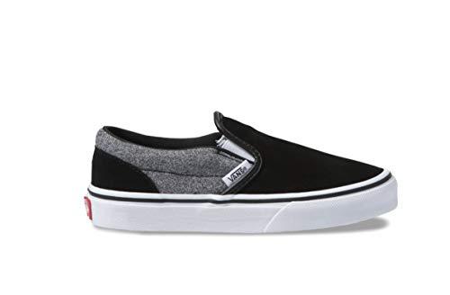 Vans Kids Classic Slip-On Suede Skate Shoes (10.5 Little Kid M, Suiting/Black)