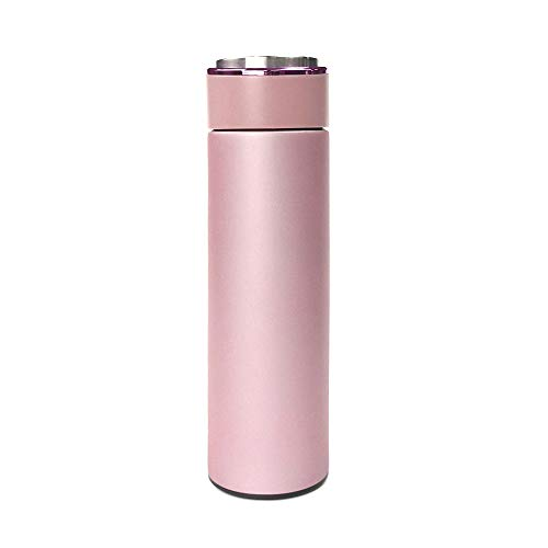 Matte Thermos Water Bottle Everyday Carry/Insulated Stainless Steel 304 Traveler Cup, Keeps The Drink Hot and Cold For About 10 Hours (Pink 2, Stainless Steel)