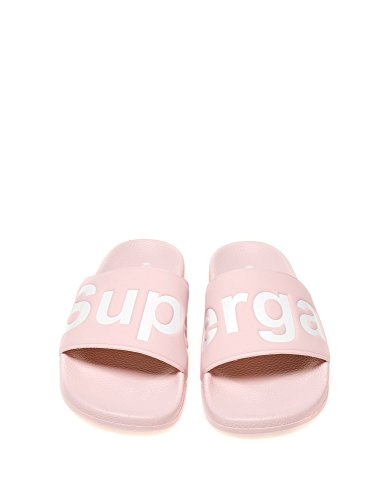 Superga Womens 1908-puu Womens Diapositives En Rose En Taille 41 Rose