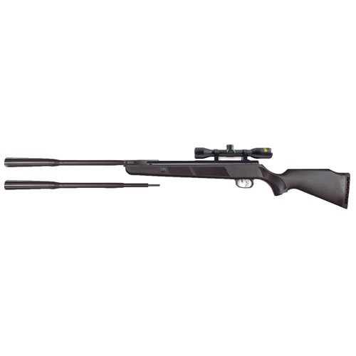 Beeman Quiet Tek, 177/22 Caliber, Break Barrel, Black Synthetic Stock with 4x32mmx 40mm Pellet Rifle