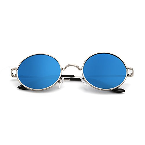 Menton Ezil Unique Blue Mirrored Color L - 8124 Sunglasses Shopping Results