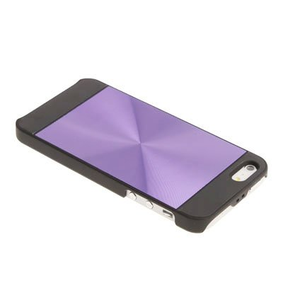 "iPhone 5 / 5S Premium Hülle / Case / Cover mit Aluminium Look in lila im ""Core-Texture-Style"" -Original nur von THESMARTGUARD-"