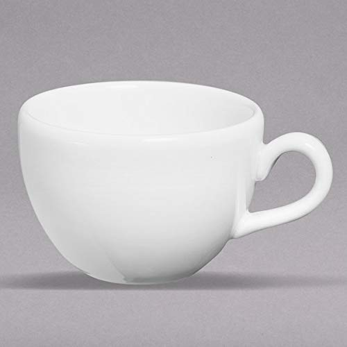 Ivory Coupe - Homer Laughlin 22307300 Nadia Americana 8 oz. Ivory (American White) Coupe Cup - 12/Case