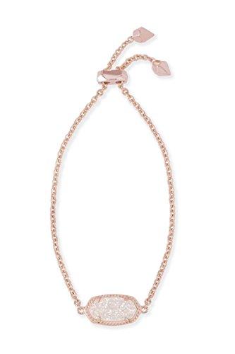 Kendra Scott Women's Elaina Bracelet Rose Gold/Iridescent Drusy One Size from Kendra Scott