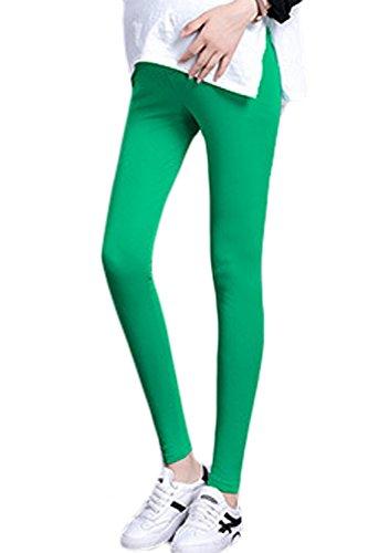 Leggings Le Sulla Pantaloni Dei Green Donne Soft Pancia Extra Simgahuva Premaman Lunghi HTpZqq
