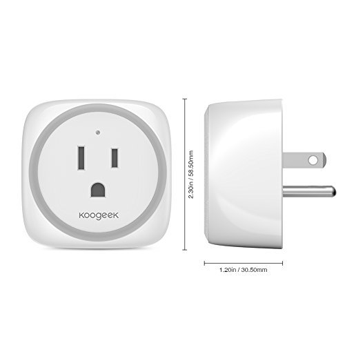 Koogeek Smart Plug, WiFi Outlet, on 2.4Ghz Network, for iOS and Android Devices Remote Control, Night Light, Works with Alexa and Apple HomeKit by Koogeek (Image #6)