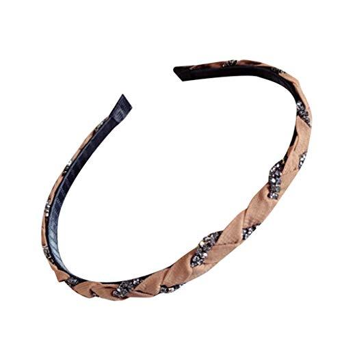 (Hand-studded fine-brimmed headband ladies winding braids headband bow headband temperament simple headwear MEEYA)