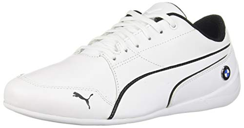 (PUMA Men's BMW Drift Cat Sneaker, White, 9.5 M US)