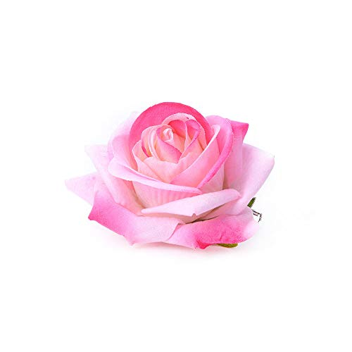 Lovefairy Beautiful Rose Flower Hair Clip Pin up Flower Brooch for Party Travel Festivals (Pink #)