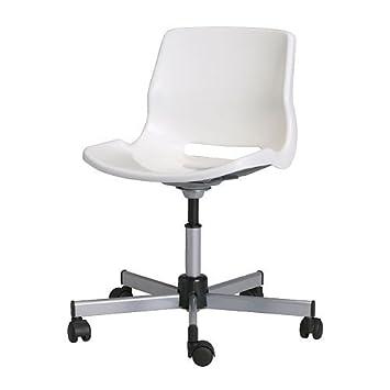 Schreibtischstuhl weiß ikea  IKEA SNILLE - Swivel chair, white: Amazon.co.uk: Kitchen & Home
