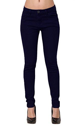 3bdeb1ca9959fd ZLZ Skinny Jeans, Women's Casual Butt Lift Stretch Jeans Leggings (4, Blue  Blakc