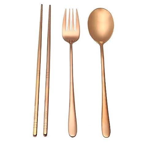 Amazon.com: Juego de 4 cucharas de acero inoxidable 304 ...