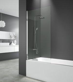 Mampara de bañera Open elevable y giratoria 150 x 85 cm) cristal ...
