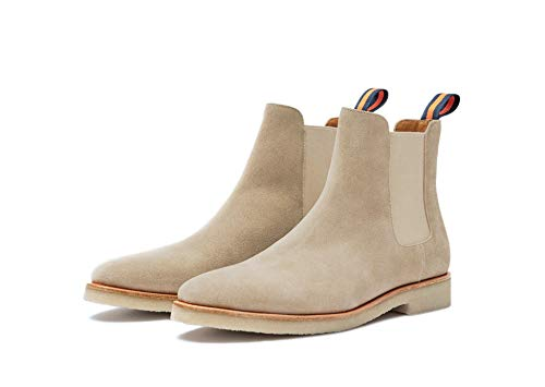 New Republic Men's Chuck Suede Chelsea Boot with Crepe Outsole - Sand (10) (Boots Mens Chelsea Suede)