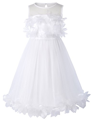 Flower Wedding Pageant Prom Ball Dresses For Little Girls 11-12yrs CL456-2 ()